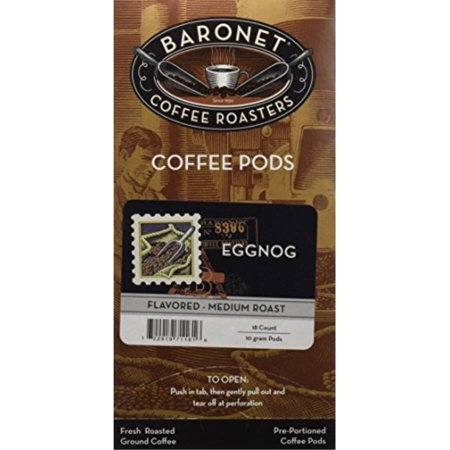 Baronet Coffee Egg Nog Coffee Pods, 54 - Baronet Coffee Coffee