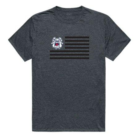 Fresno State University Bulldogs Flag Tee T-Shirt Heather Charcoal Small