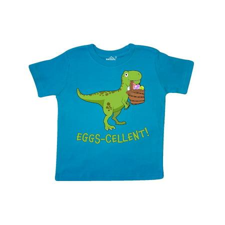 Eggs-cellent! Cute Easter T-Rex Dinosaur Toddler T-Shirt](Cute Toddler)