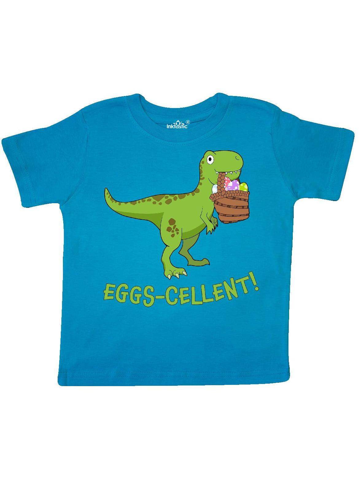 Eggs-cellent! Cute Easter T-Rex Dinosaur Toddler T-Shirt