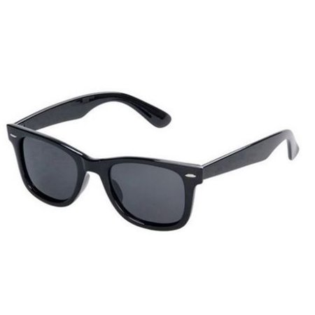 Classic Style Children Ages 2-12+ BLACK Kids Toddler Boys Girls Sunglasses RETRO Small Child ()