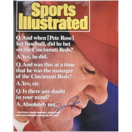 "Pete Rose Cincinnati Reds 1999 Sports Illustrated Cover Autographed 16"" x 20"" Photograph Fanatics Authentic Certified by"