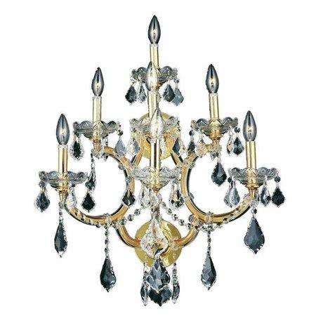 "Elegant Lighting Maria Theresa 27"" 7 Light Royal Crystal Wall Sconce - image 1 de 1"
