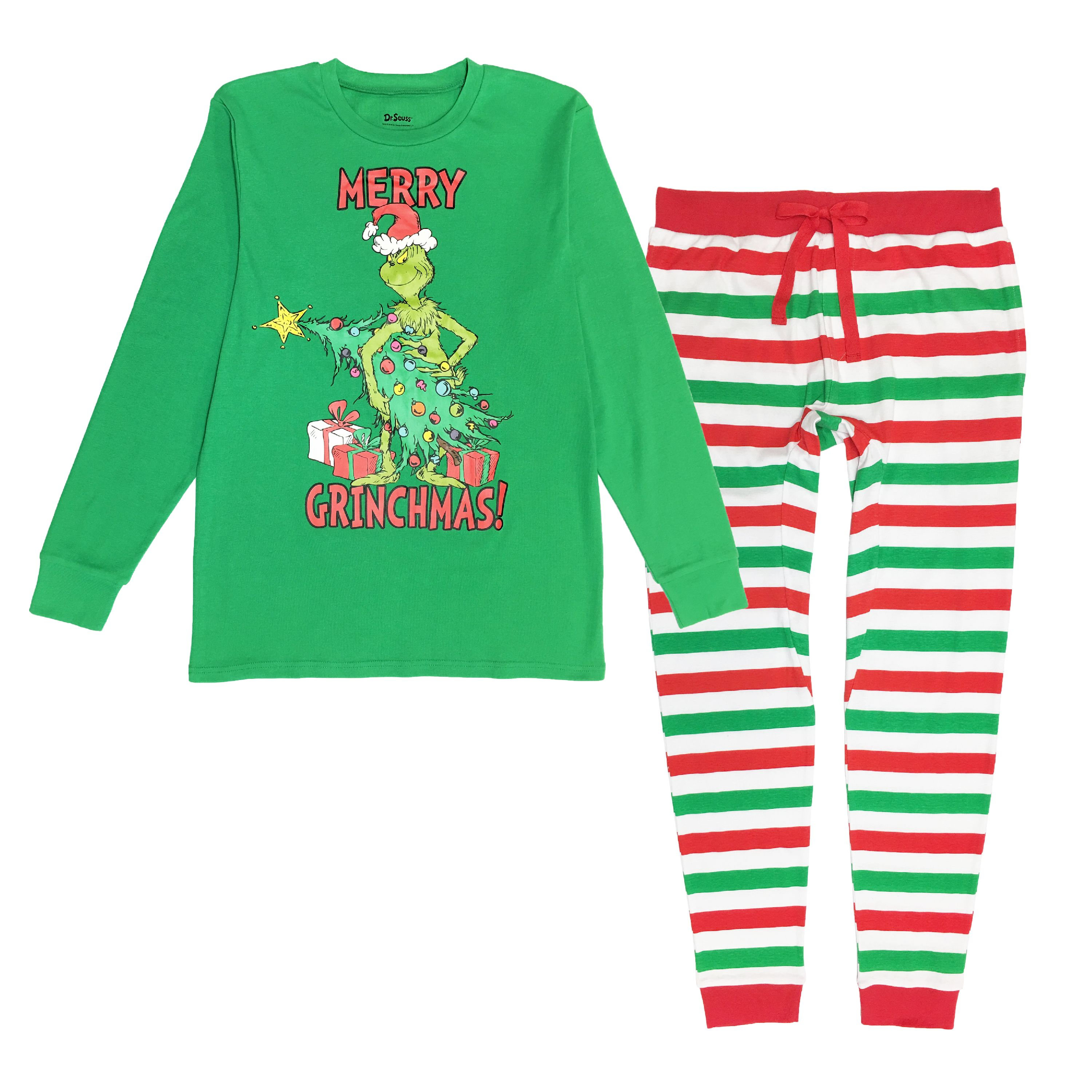 Matching Family Adult And Kids Pajama Set Outfits Seuss Grinch Merry Grinchmas Dr