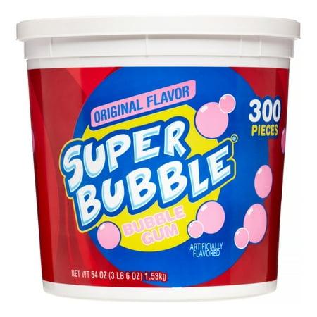 Super Bubble Bubble Gum, Original Tutti Fruitti Flavor, 54 Oz Bubble Gum Wax