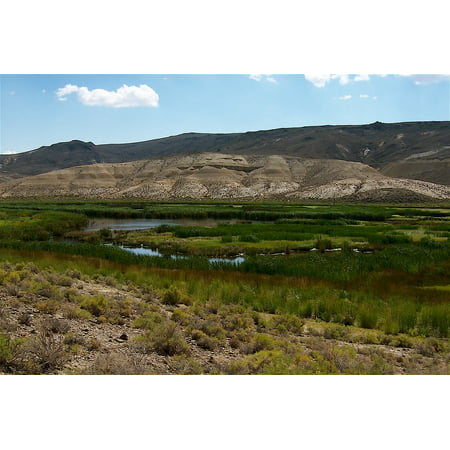 Canvas Print Wetlands Water Desert Creek Oasis Marsh Valley Stretched Canvas 10 x 14