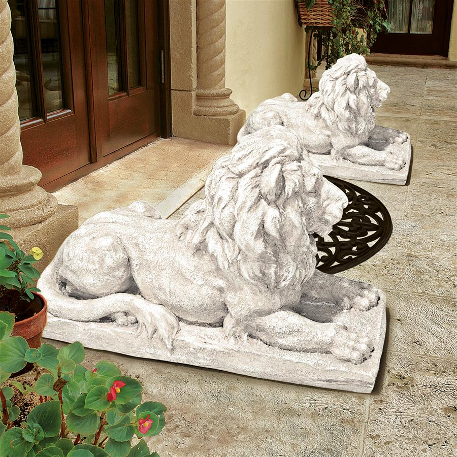 Lyndhurst Manor Lion Sentinel Statue: Set of Two
