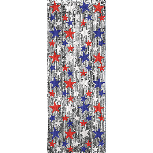 Patriotic Mylar Entryway Curtain