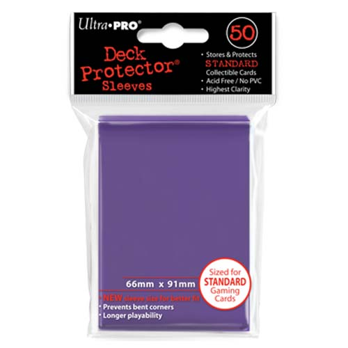 50 Ultra Pro Purple Passion Standard Sized Card Sleeves Deck Protectors Multi-Colored