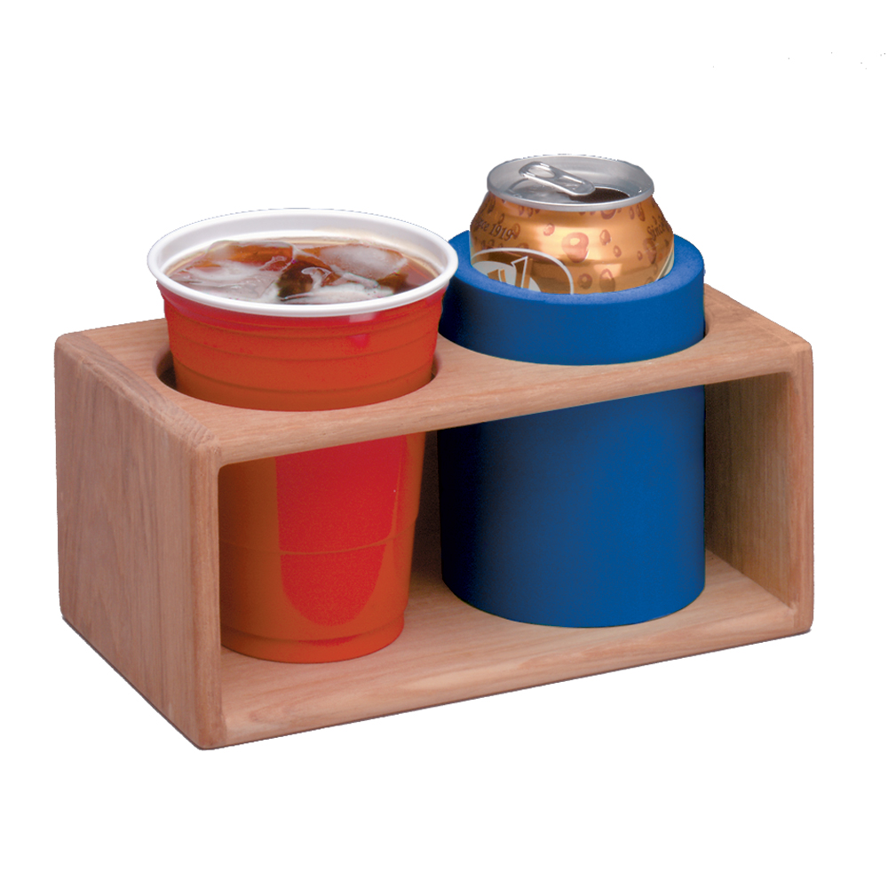 WHITECAP TEAK TWO INSULATED DRINK RACK