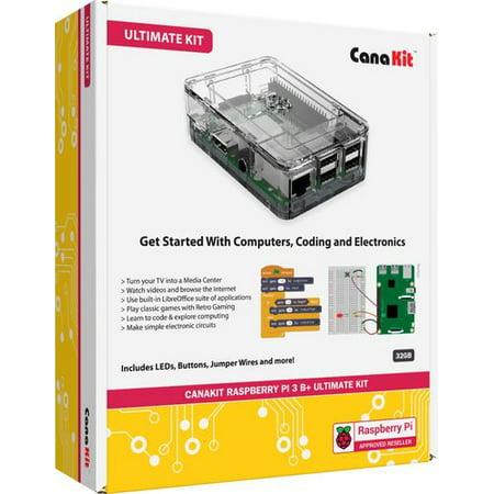 CanaKit - Raspberry Pi 3 Model B+ Ultimate Kit - Clear (Canakit Raspberry Pi Power Supply)