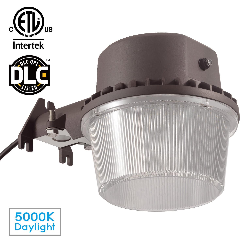 35W LED Outdoor Barn Light, Dusk to Dawn Photocell, DLC & ETL-listed, 3500lm Weatherproof Outdoor Flood Light for Garage, Patio, Garden, 5000K Daylight