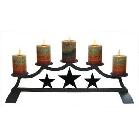 Village Wrought Iron C-PFP-45 Star - Fireplace Pillar Candle (Fireplace Pillar)
