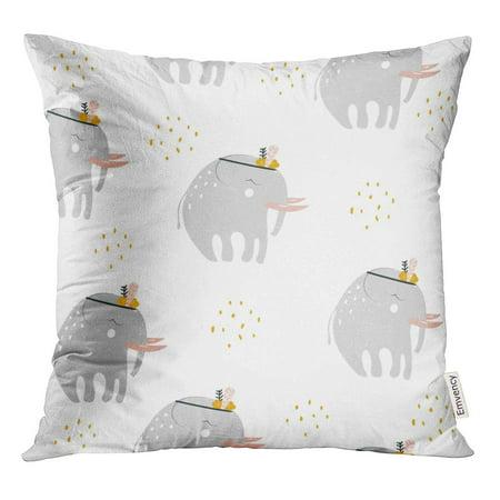 Bosom Baby Pillow - STOAG Cute Elephant Scandinavian Abstract Baby Bohemian Boho Cartoon Throw Pillowcase Cushion Case Cover 16x16 inch