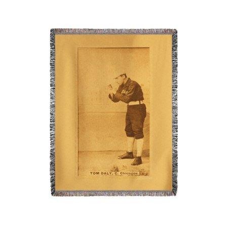 Chicago White Stockings - Tom Daly - Baseball Card (60x80 Woven Chenille Yarn Blanket)