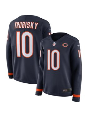 Product Image Mitchell Trubisky Chicago Bears Nike Women s Therma Long  Sleeve Jersey - Navy 8758c9e06