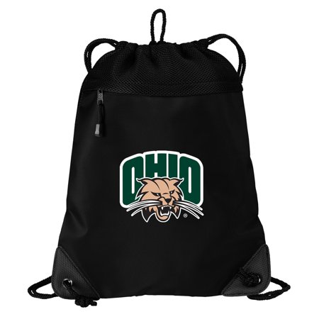 Ohio University Drawstring Bag TWO SECTION Ohio Bobcats Cinch Pack Backpack - Unique Mesh & Microfiber
