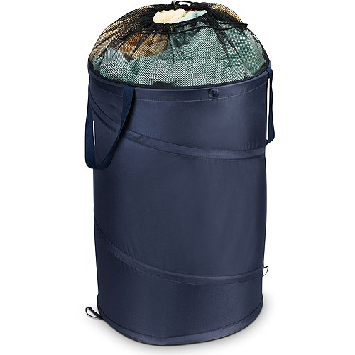 Household Essentials Pop-Up Hamper With Water-Resistant Lining, Navy