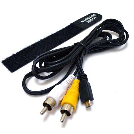 (5 feet AV Audio / Video Cable Nikon EG-CP14 Camera Compatible + Cable Tie For Nikon Coolpix S100PJ, S1000PJ, S1100PJ, S1200PJ (S100, S1000, S1100, S1200 PJ),.., By Bargains Depot Ship from US)