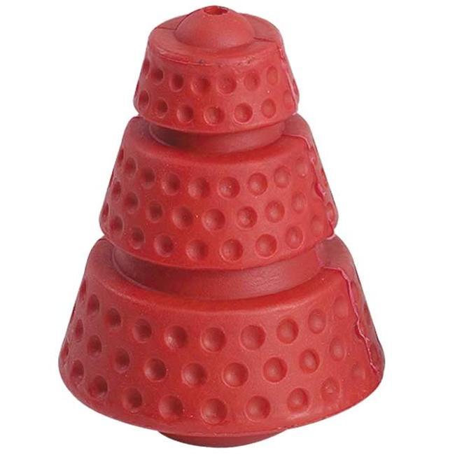 Pet Pals ZW351 04 Zanies Hard Rubber Cosmic Cone 4 In Rocket Red