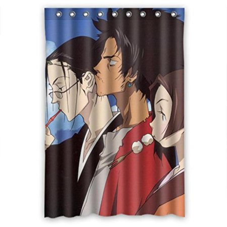 Anime Cartoon Design Polyester Fabric Shower Curtain Measure 48wx72h