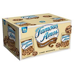 Famous Amos Chocolate Chip Cookies, 2 Oz, Box Of 36 Bags](Boxes For Christmas Cookies)