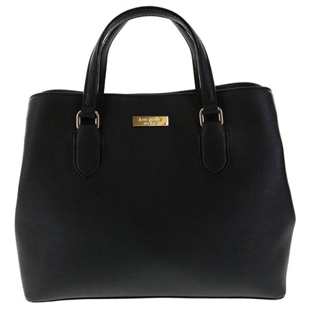 Kate Spade Striped Handbags - kate spade new york laurel way evangelie saffiano leather shoulder bag satchel (black)