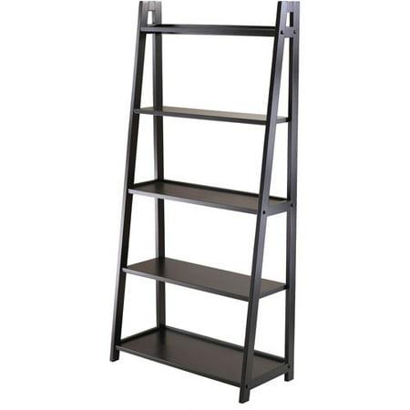 Adam 5 Shelf Bookshelf  Black