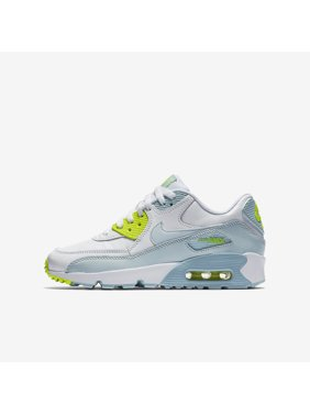 best service e3846 a86b9 Product Image Nike Youth Air Max 90 LTR Running Shoes-White Blue