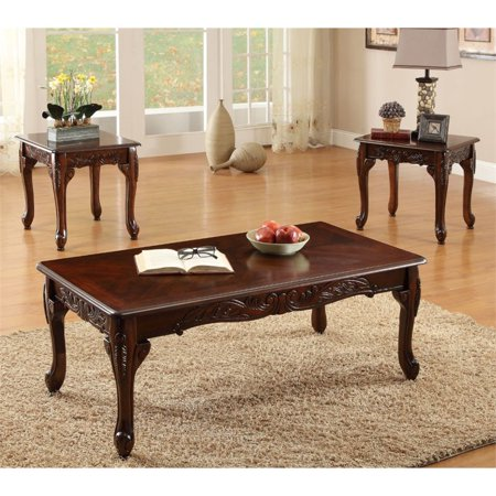 Furniture of america alice 3 piece coffee table set in for Furniture of america coffee table sets
