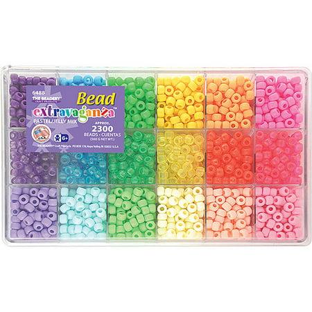 The Beadery Giant Bead Box Kit, 2300 Beads/pkg, Pastel & - Giant Bead Box