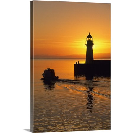 Great Big Canvas John Sylvester Premium Thick Wrap Canvas Entitled Sunrise  Harbour Lighthouse  Grand Bank  Newfoundland  Canada