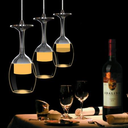 - LED Modern Minimalist Creative Wine Glass Ceiling Light Pendant Lamp Fixture Lighting Chandelier