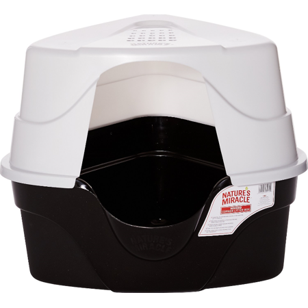 Nature's Miracle Advanced Hooded Corner Cat Litter Box,