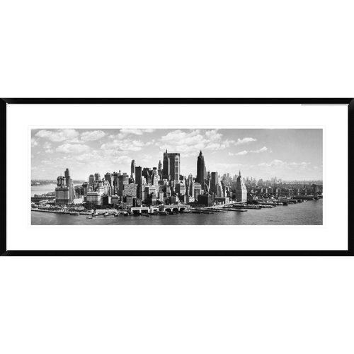 Global Gallery Manhattan Waterfront Framed Photographic Print