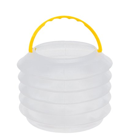 Plastic Telescopic Folding Water Bucket Container Clear - Clear Bucket