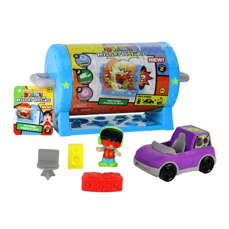 Ryan's Mystery Playdate Picture Puzzle Box Vehicle Playset