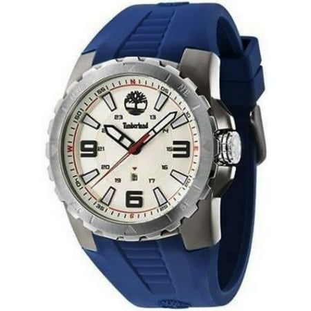 TBL14478JSUS07P Men's Blue Rubber Band With Beige Dial Watch NWT