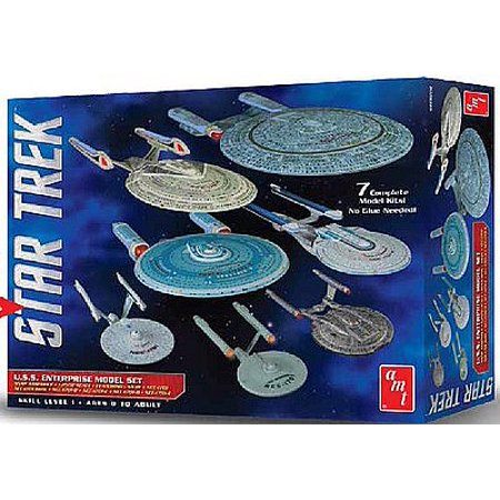 Uss Enterprise Star (AMT 954  1:2500 Star Trek USS Enterprise Box Set Snap)