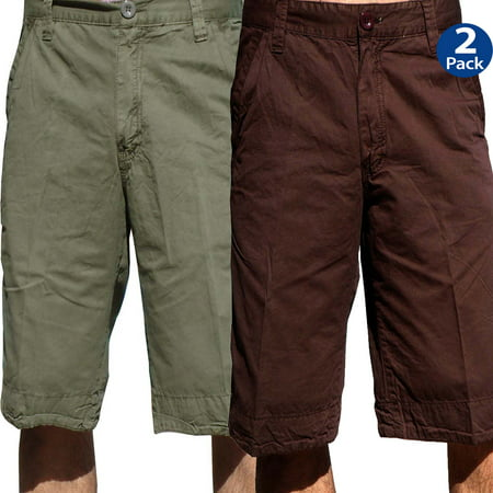 StoneTouch Mens Chino Shorts 2 pack, 5FKx2