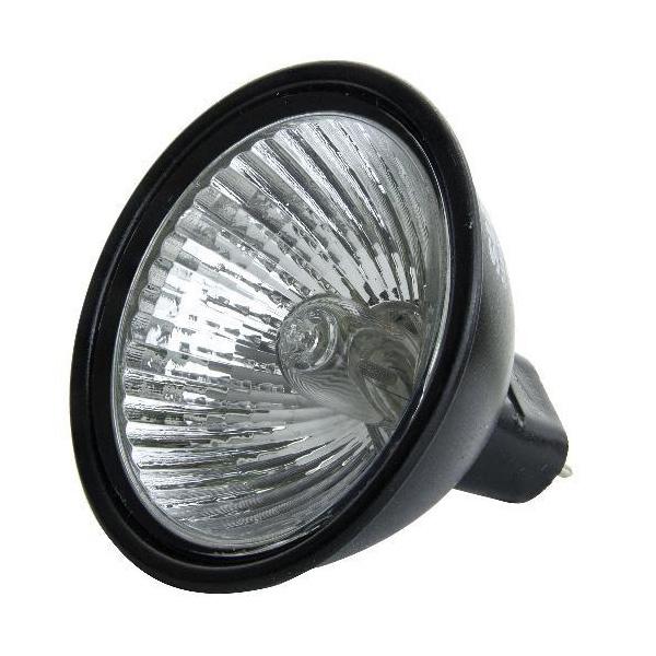 Sunlite FMW 35w 12V MR16 Flood Black Back w/ Front Glass light bulb