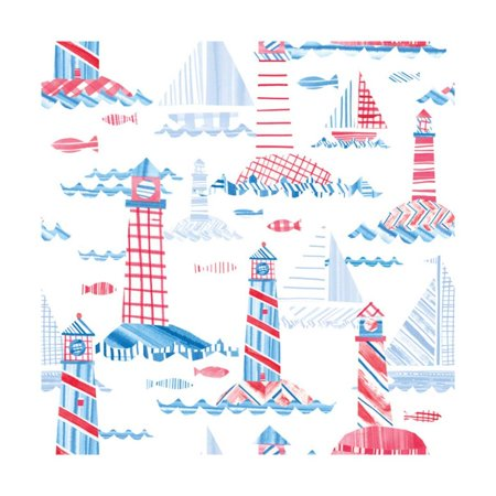 Coastal Americana Pattern VIII Print Wall Art By Melissa (Coastal Pattern)