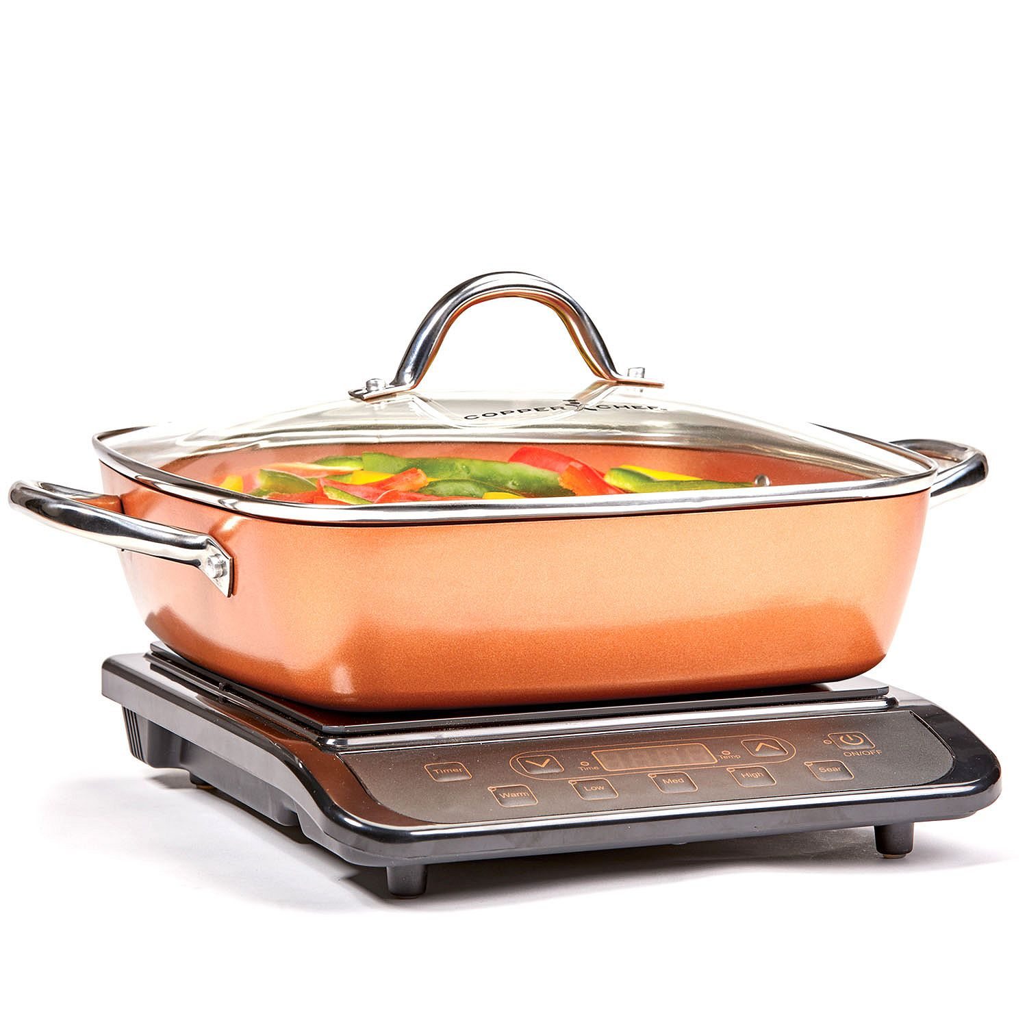 Copper Chef Induction Cooktop with 11u0022 Casserole Pan