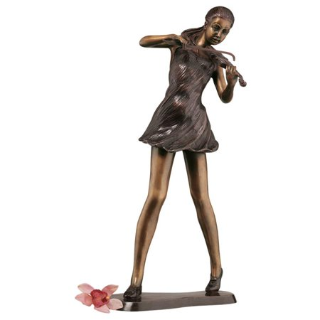 - Design Toscano The Young Violinist Sculpture: Scaled