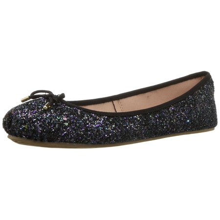Lfl By Lust For Life Womens Ll-Tinker Fabric Closed Toe Ballet - Fur Flats