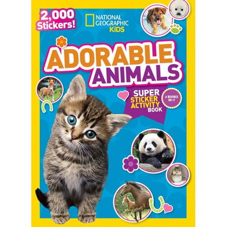 National Geographic Kids Adorable Animals Super Sticker Activity Book : 2,000 - Halloween Ten Frame Activities