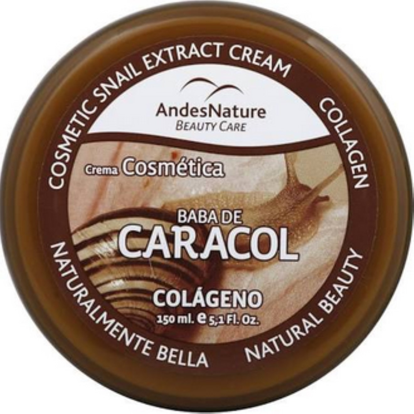 Andes Nature Cosmetic Snail Extract Cream, 5.12 oz (Pack of 2)