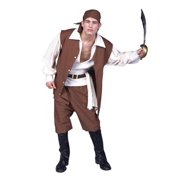 Adult Brown Pirate Costume RG Costumes 80271 by RG Costumes