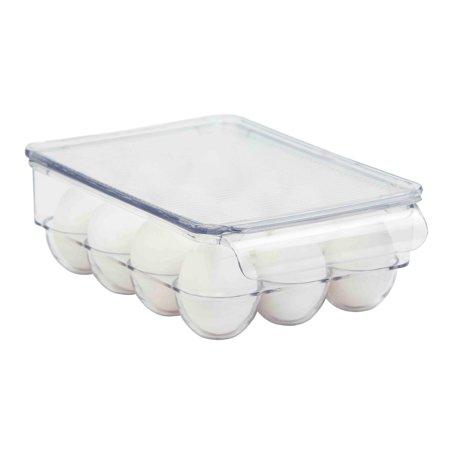 Home Basics  Clear Plastic Fridge Bin 21-Egg Holder