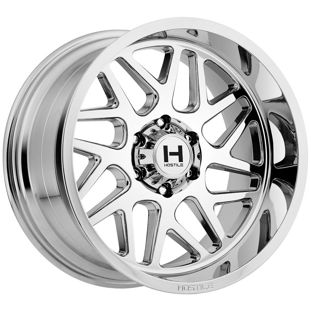 "20"" Inch Hostile H108 Sprocket 20x12 6x135 -44mm Chrome Wheel Rim"